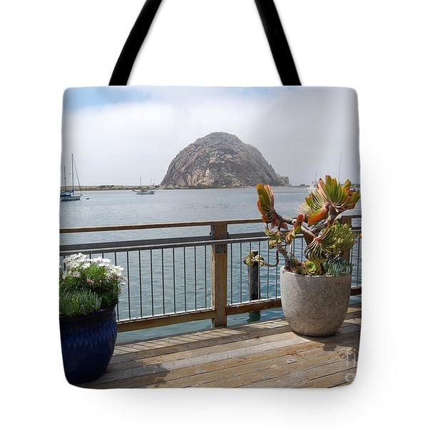Tote Bag featuring the photograph Morro Bay And Plants by Debra Thompson