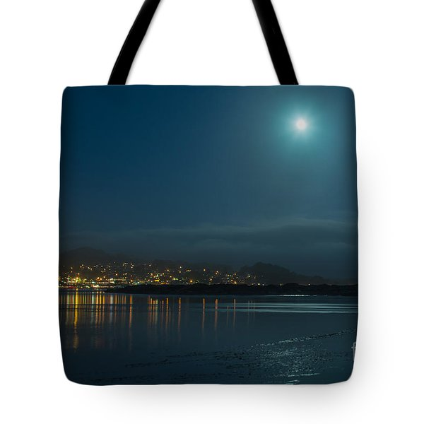 Morro Bay At Night Tote Bag