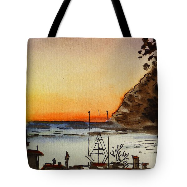 Morro Bay - California Sketchbook Project Tote Bag by Irina Sztukowski