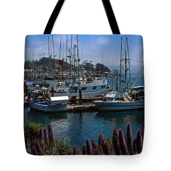 Morro Bay Harbor Tote Bag by Kathy Yates