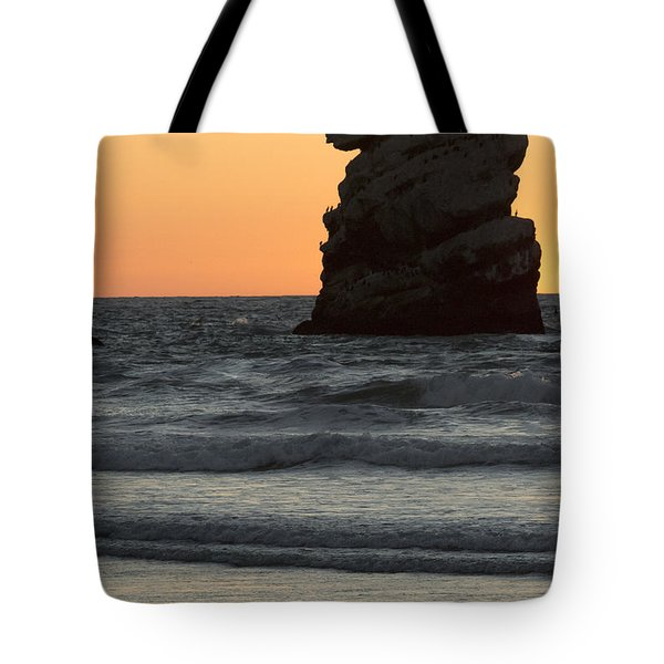Morro Beach Sunset Tote Bag