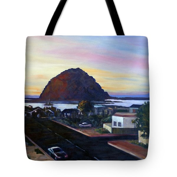 Morro Rock At Night Tote Bag