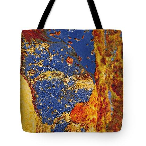 Mortal Bleu Flambe Tote Bag
