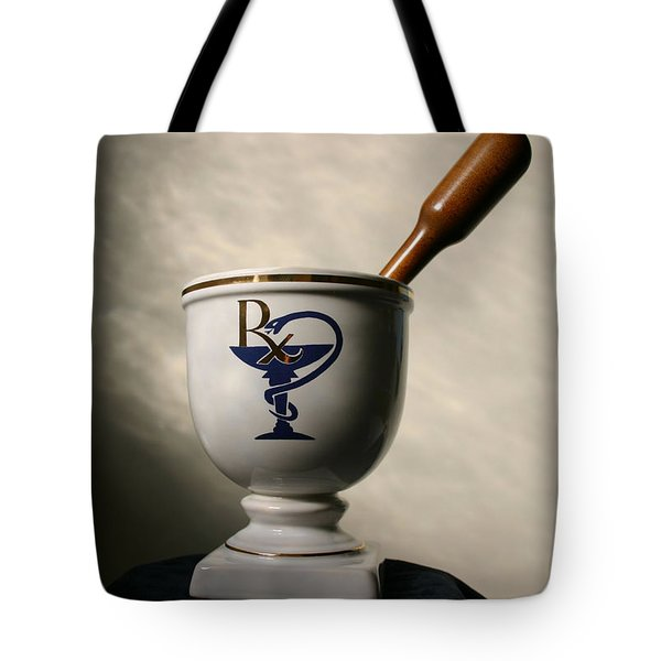 Mortar And Pestle Two Tote Bag by Kristin Elmquist