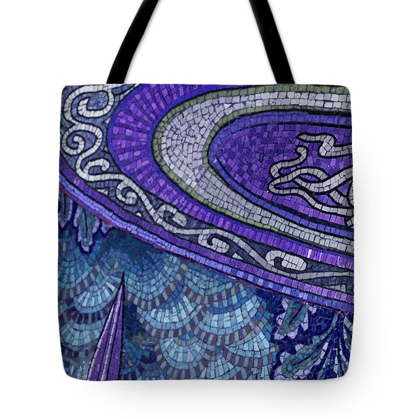 Mosaic Abstract Tote Bag by Tony Rubino
