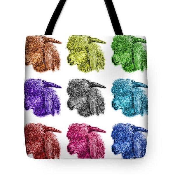 Mosaic Angora Goat - 0073 F - M - Wb Tote Bag