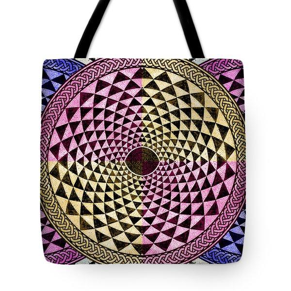 Mosaic Circle Symmetric  Tote Bag by Tony Rubino