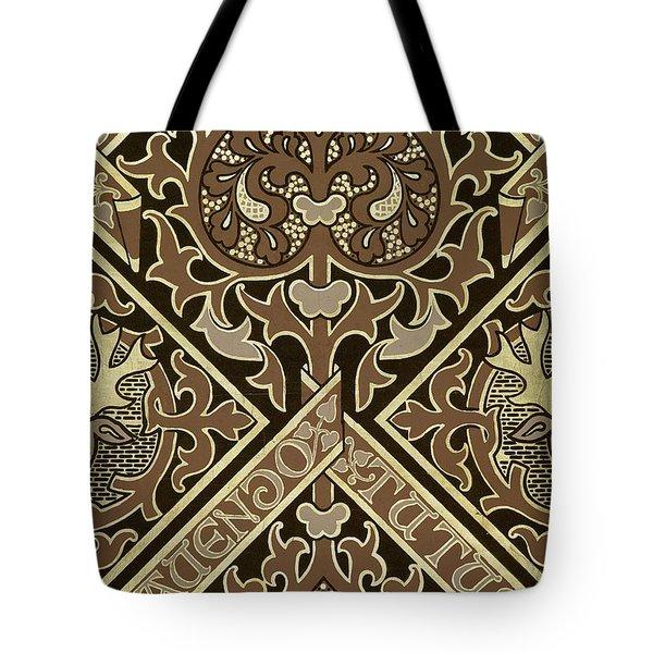 Mosaic Ecclesiastical Wallpaper Design Tote Bag