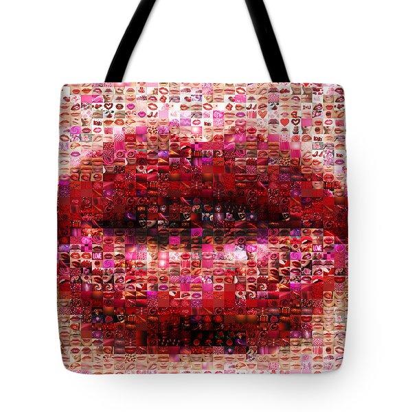 Mosaic Lips Tote Bag