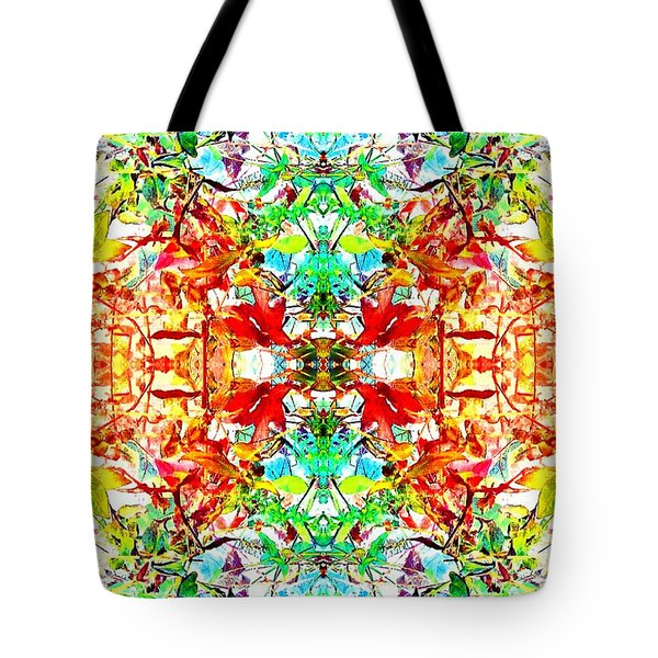Mosaic Of Spring Abstract Art Photo Tote Bag