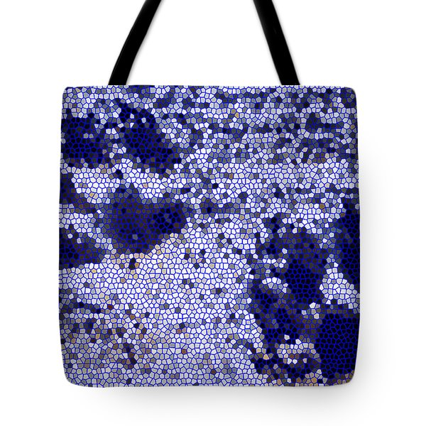 Mosaic Pawprints Tote Bag