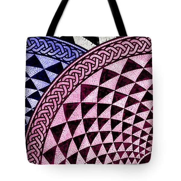 Mosaic Quarter Circle Top Left  Tote Bag by Tony Rubino