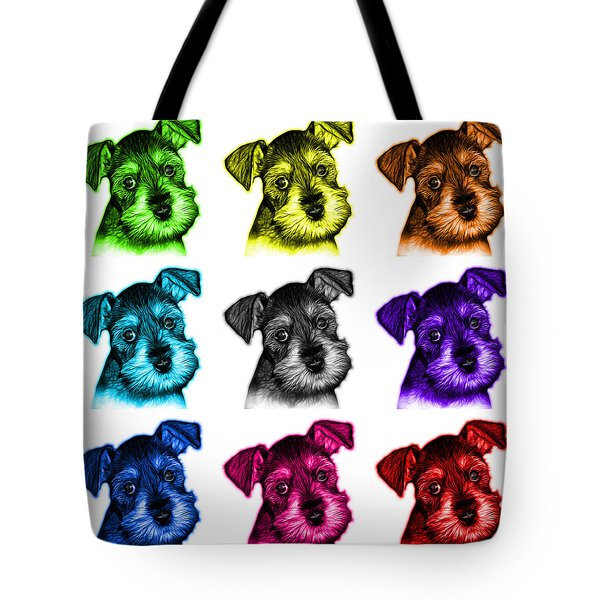 Mosaic Salt And Pepper Schnauzer Puppy 7206 F - Wb Tote Bag