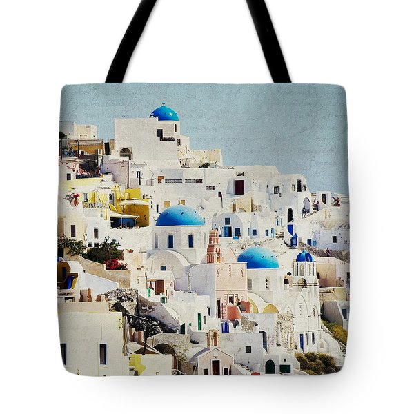 Mosaic - Santorini Tote Bag by Lisa Parrish