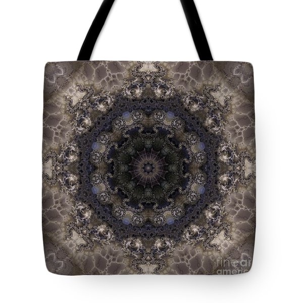 Mosaic Tile / Gray Tones Tote Bag by Elizabeth McTaggart