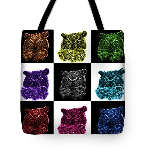 Mosaic V1 Owl 4436 - F M Tote Bag by James Ahn