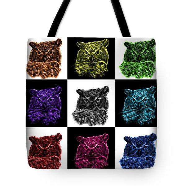 Mosaic V2 Owl 4436 - F M Tote Bag by James Ahn