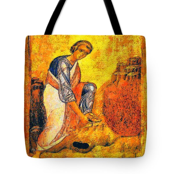 Moses And The Burning Bush Tote Bag by George Rossidis
