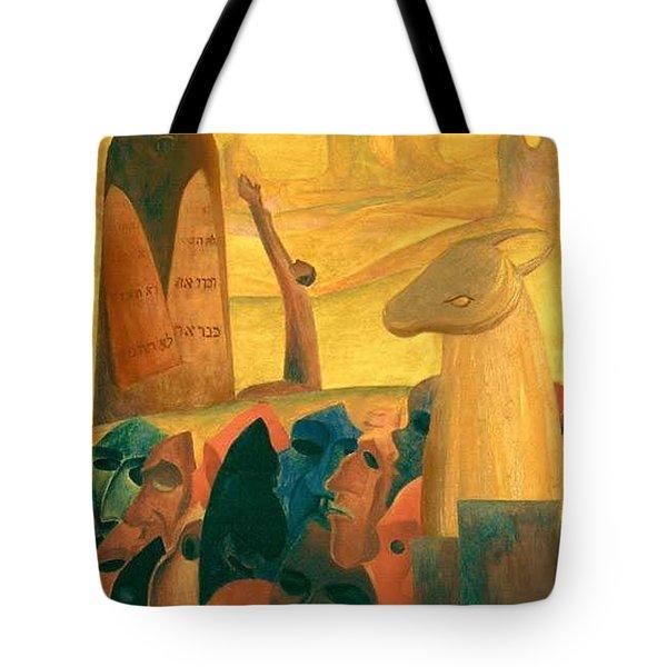 Moses And The Masks Tote Bag