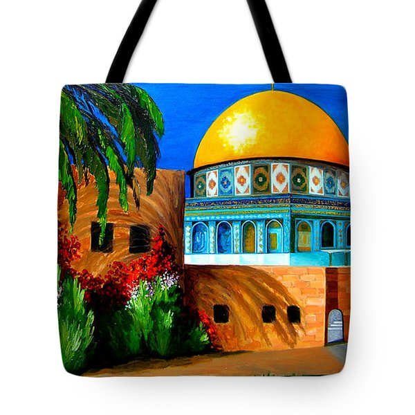 Mosque - Dome Of The Rock Tote Bag