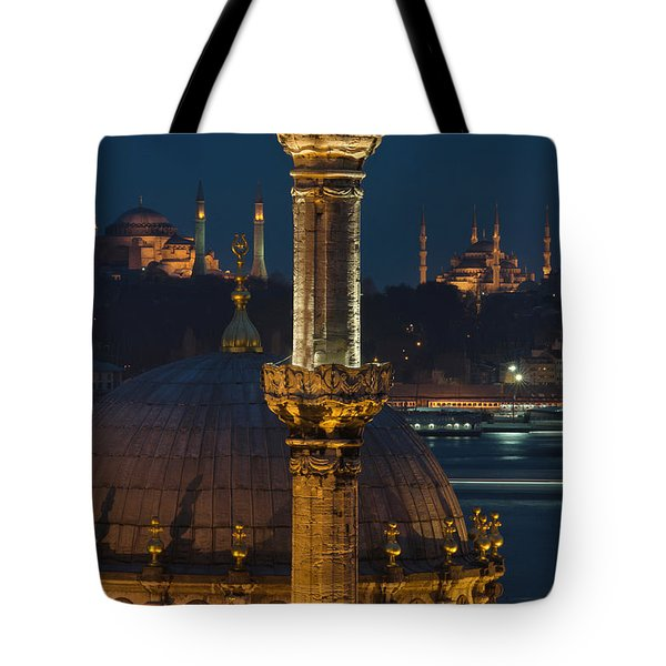 Mosques In Istanbul Tote Bag by Ayhan Altun