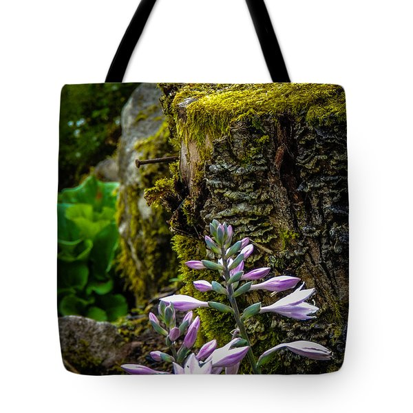 Moss And Flowers In Markree Castle Gardens Tote Bag