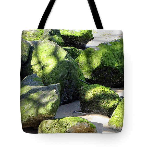 Moss On The Rocks Tote Bag