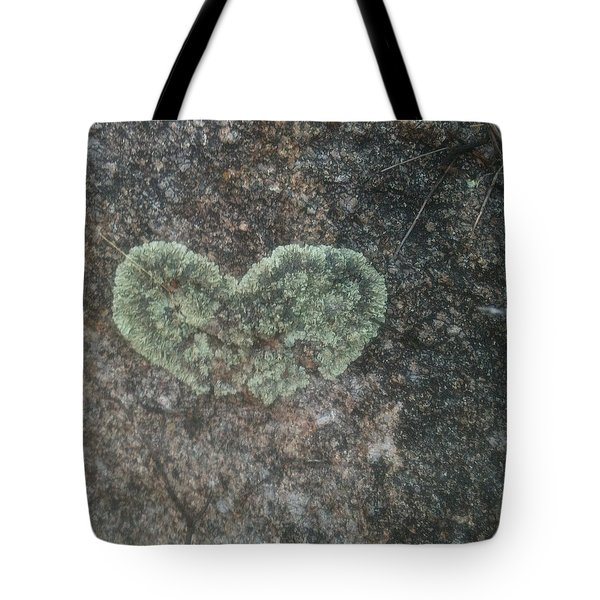 Moss Heart  Tote Bag