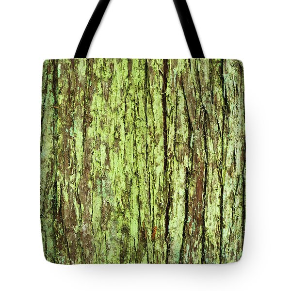 Moss On Tree Bark Tote Bag