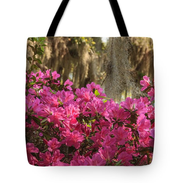 Moss Over Azaleas Tote Bag