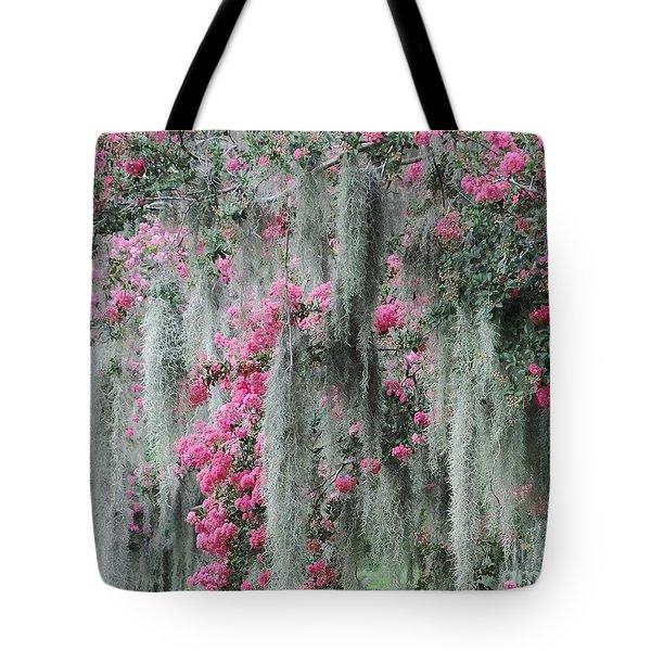 Mossy Crepe Myrtle Tote Bag