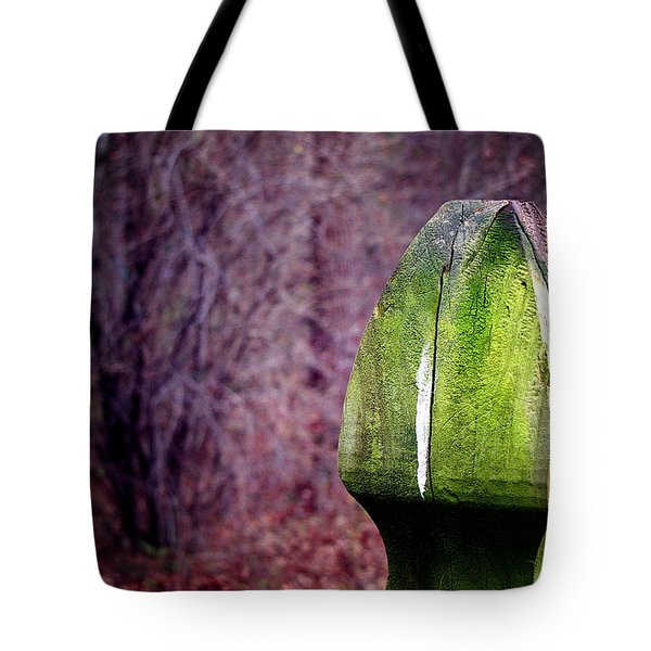 Tote Bag featuring the photograph Mossy Post by Greg Simmons
