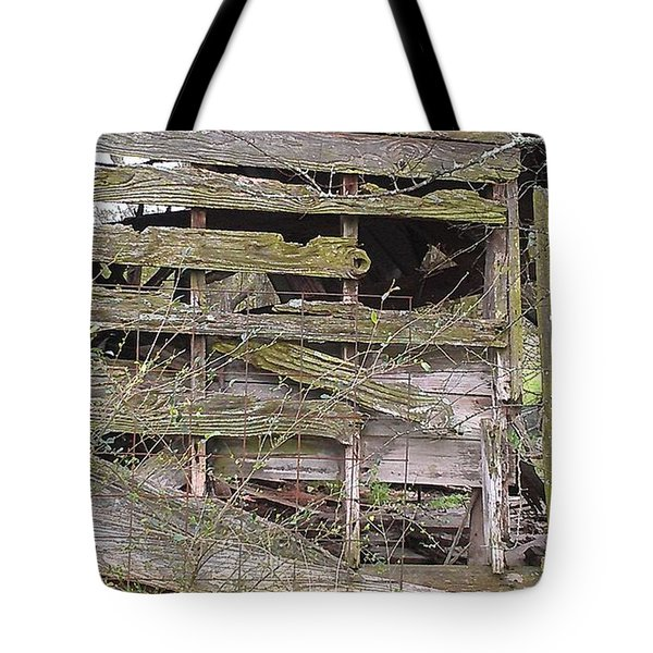 Tote Bag featuring the photograph Mossy Wood by Lew Davis