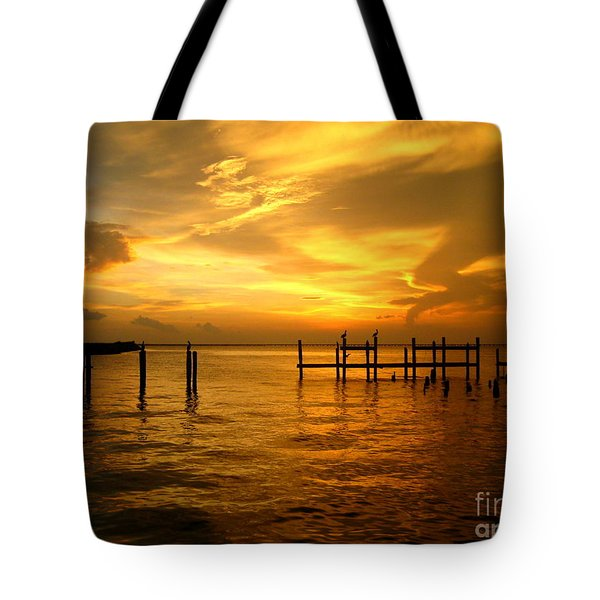 Most Venerable Sunset Tote Bag by Kathy Bassett