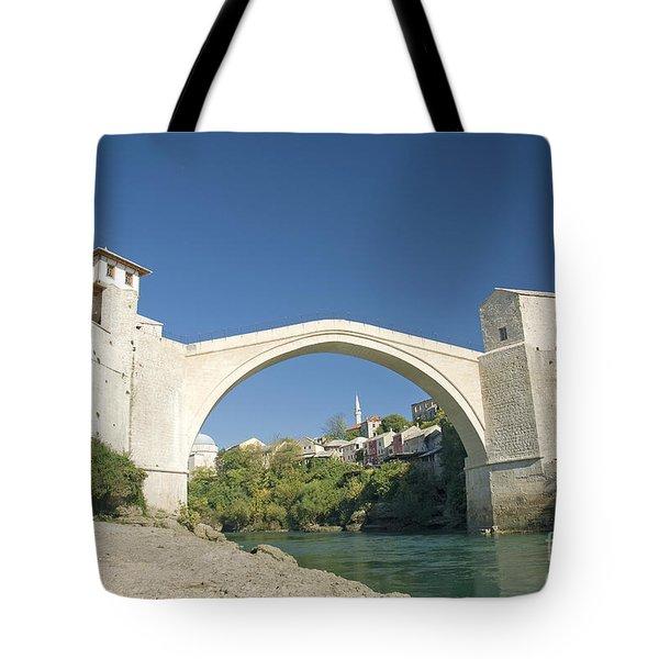 Mostar Bridge In Bosnia Tote Bag