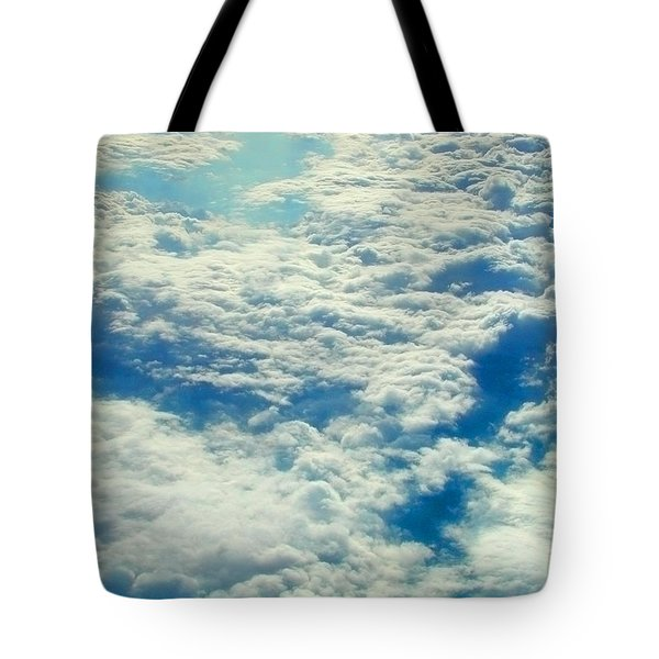 Tote Bag featuring the photograph Mostly Cloudy by Mark Greenberg