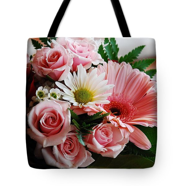 Mostly Pink Tote Bag by Janice Adomeit