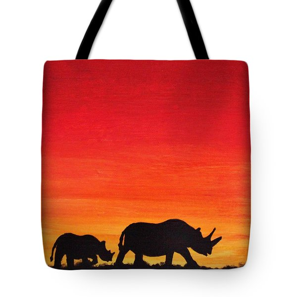 Mother Africa 5 Tote Bag by Michael Cross