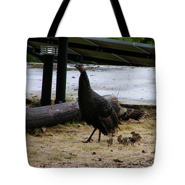 Mother And Babies Tote Bag