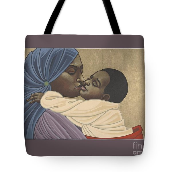 Tote Bag featuring the painting Mother And Child Of Kibeho 131 by William Hart McNichols