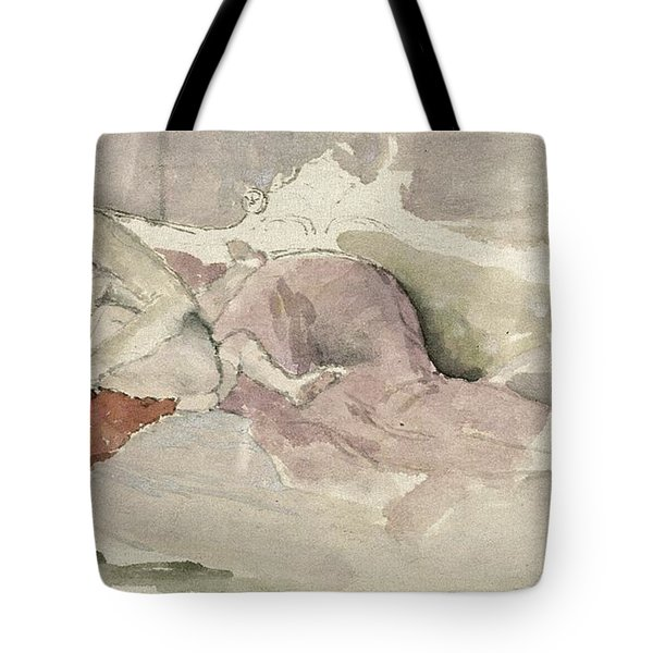 Mother And Child On A Couch Tote Bag by James Abbott McNeill Whistler