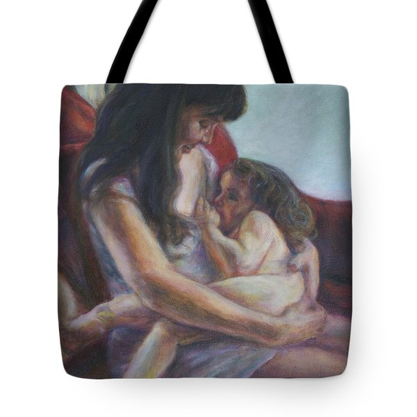 Mother And Child Tote Bag by Quin Sweetman