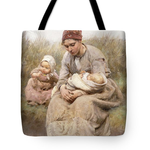 Mother And Child Tote Bag by Robert McGregor