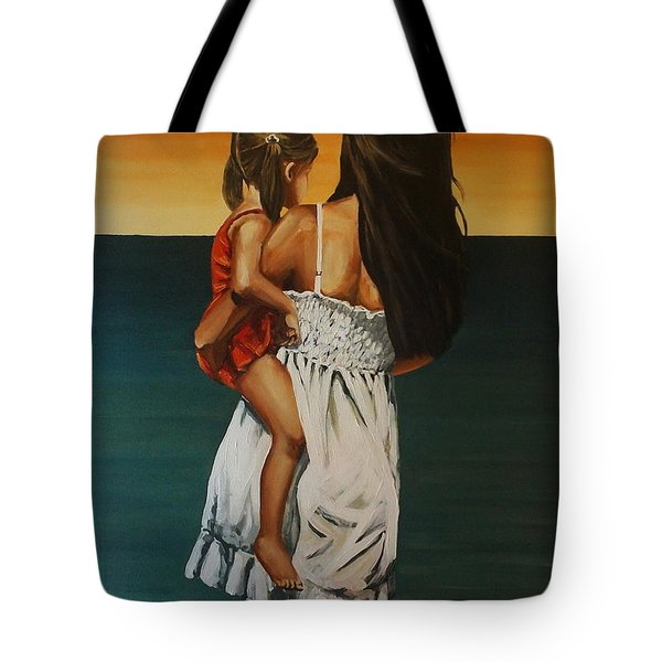 Mother And Daughter II Tote Bag