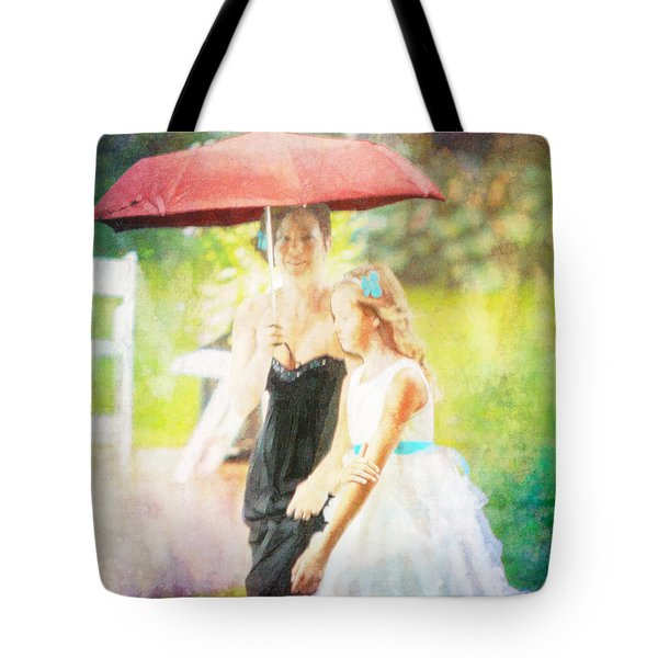 Mother And Daughter In The Garden Tote Bag