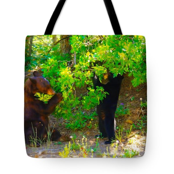 Mother Bear And Cub Tote Bag