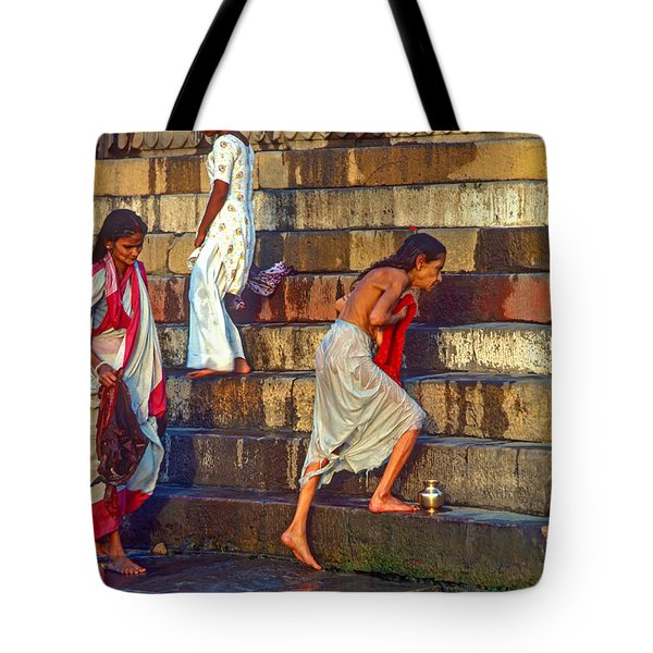 Mother Ganges Tote Bag by Steve Harrington