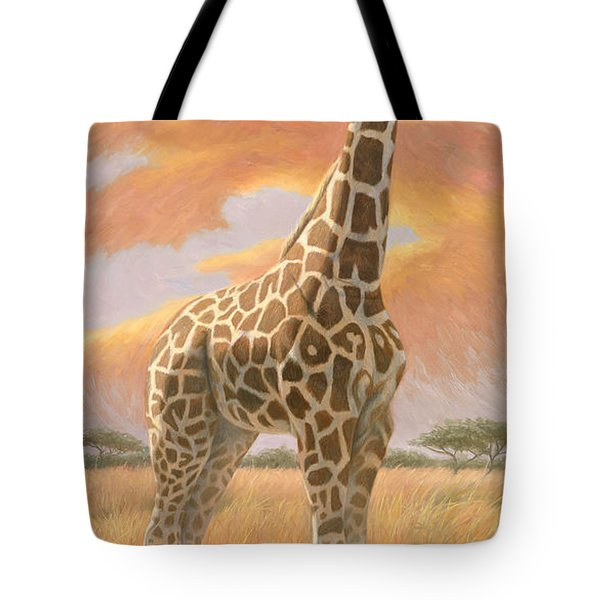 Mother Giraffe Tote Bag