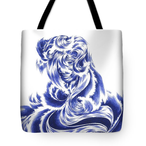 Mother Nature - Face Of The Sea Tote Bag by Alice Chen