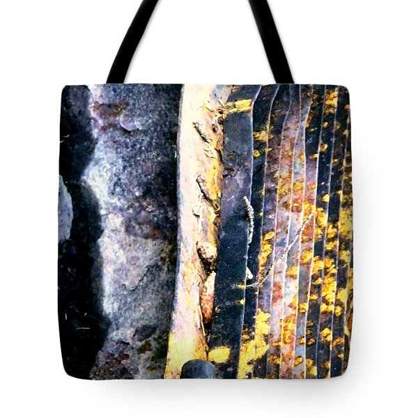 Mother Natures Aspen Abstract Art Tote Bag